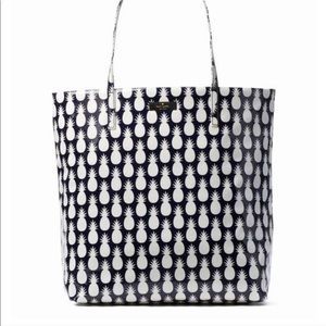 Kate Spade black and white pineapple shopper